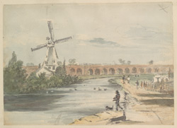 Mill and Railway Viaduct f. 106